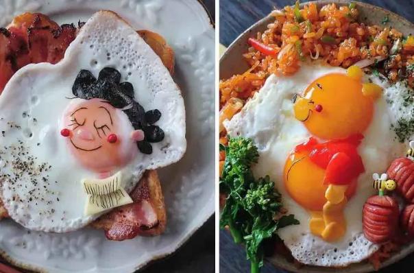 Une maman japonaise transforme des œufs au plat en repas super mignons
